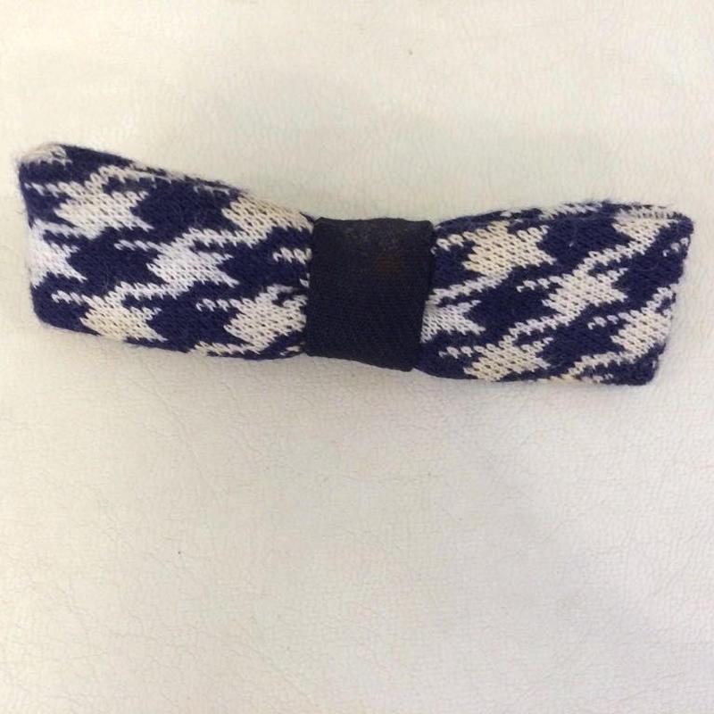 【USED】Vintage Zigzag Pattern Ribbon tie