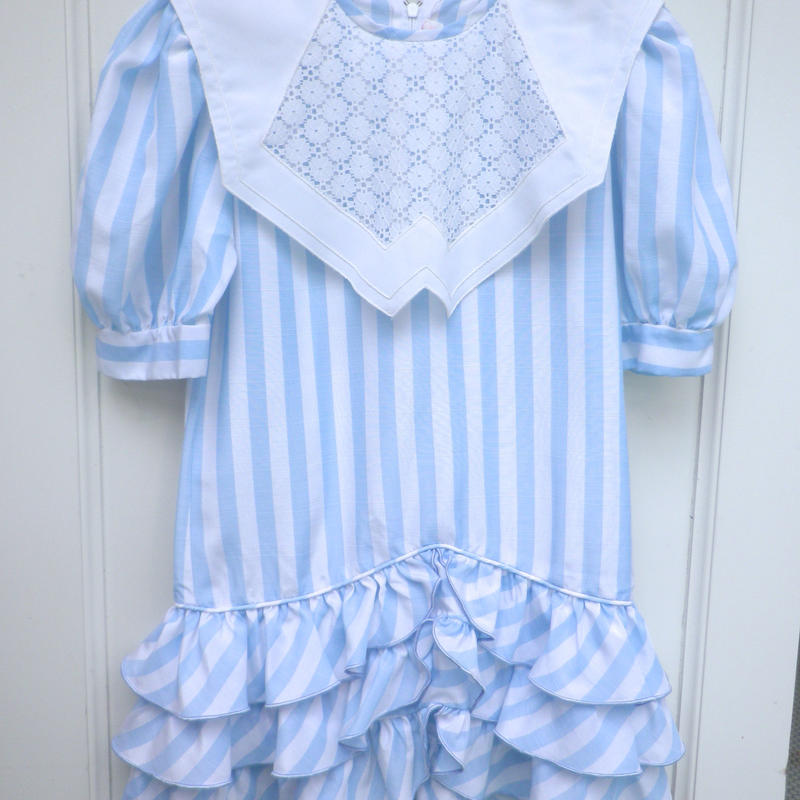 169.【USED】Light Blue And White Stripe Dress