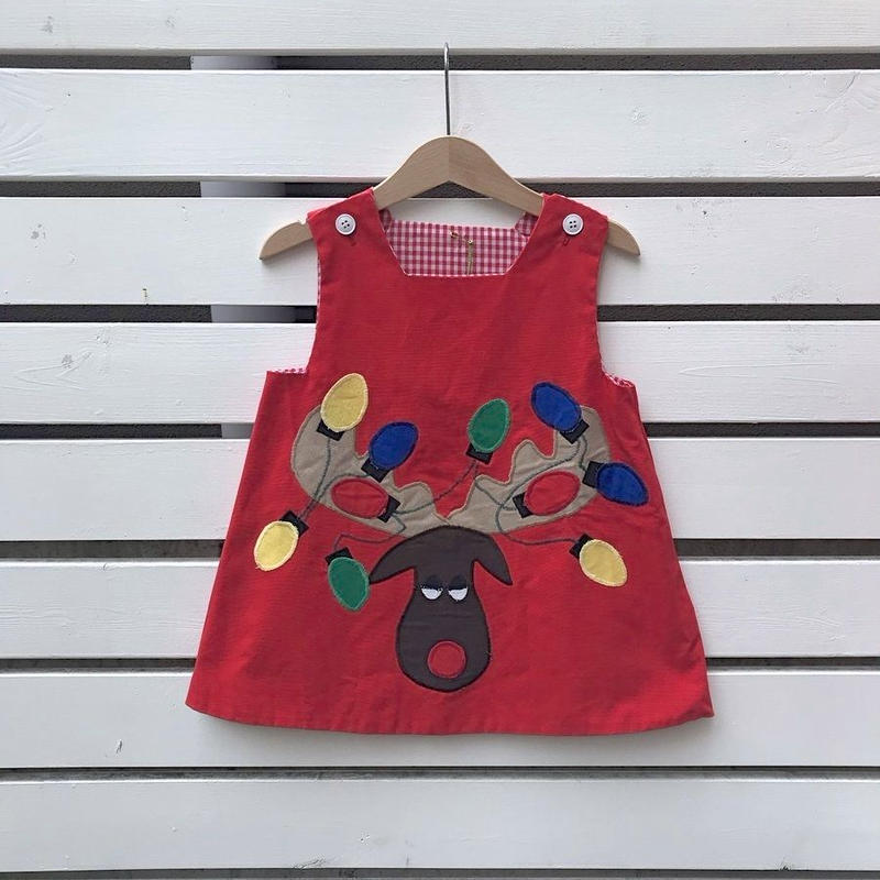 346.【USED】Reindeer Red Dress