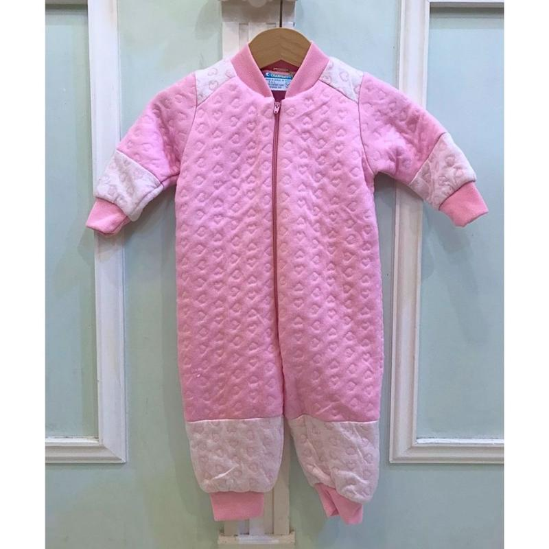 316.【USED】Pink Heart Rompers