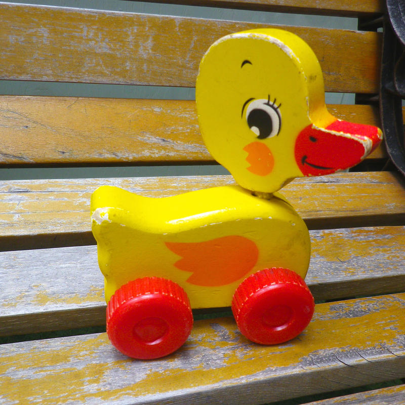 194.【USED】Vintage Wooden Duck Toy