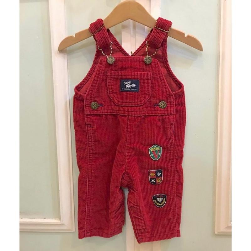 408.【USED】OSHKOSH Corduroy Red Overall(Made in U.S.A.)