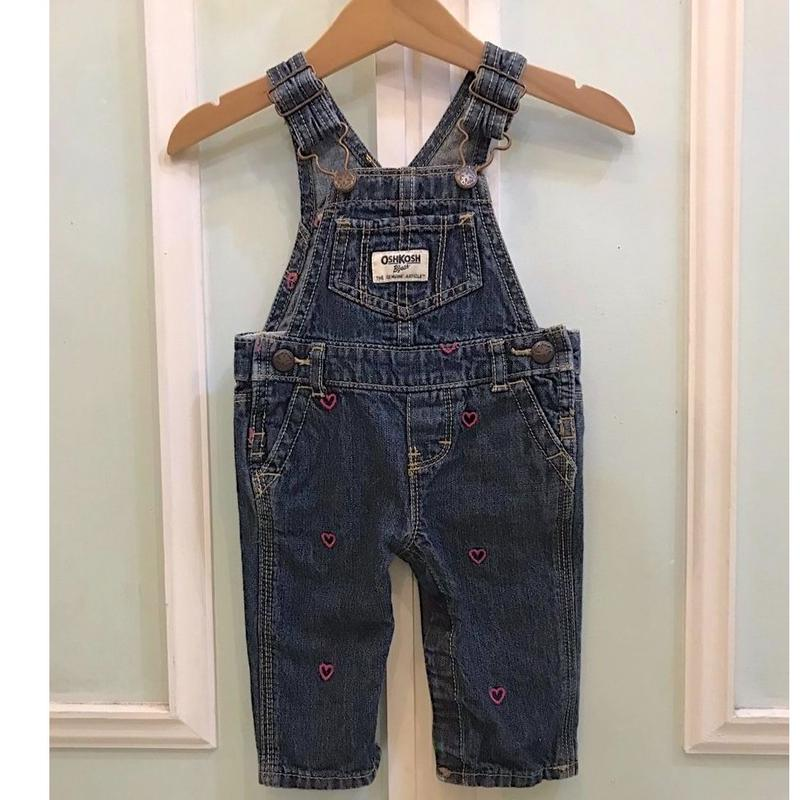 416.【USED】OSHKOSH Heart Denim Overall