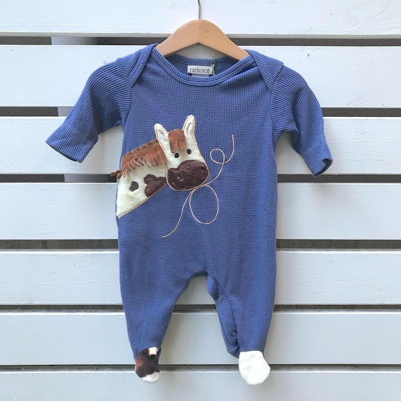288.【USED】Blue Horse Rompers