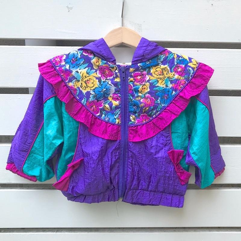 283.【USED】Colorful Flower Nylon Jacket