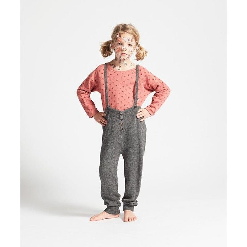 240.【oeuf】 Suspender Pants /dark grey