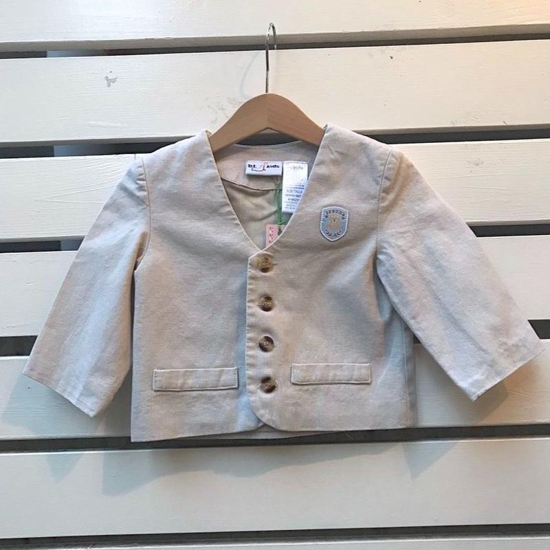 451.【USED】Beige bear  formal Jacket