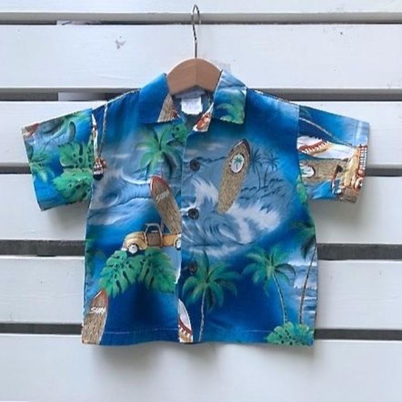557.【USED】Summer Sea  Hawaiian Shirts(Made in HAWAII)