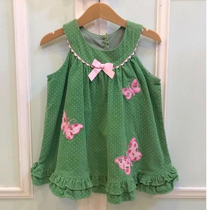 439.【USED】Green Butterfly Dress