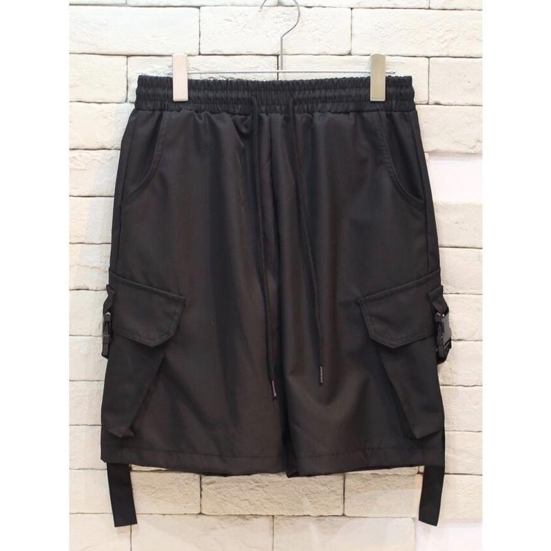 NYLON CARGO SHORTS BLACK