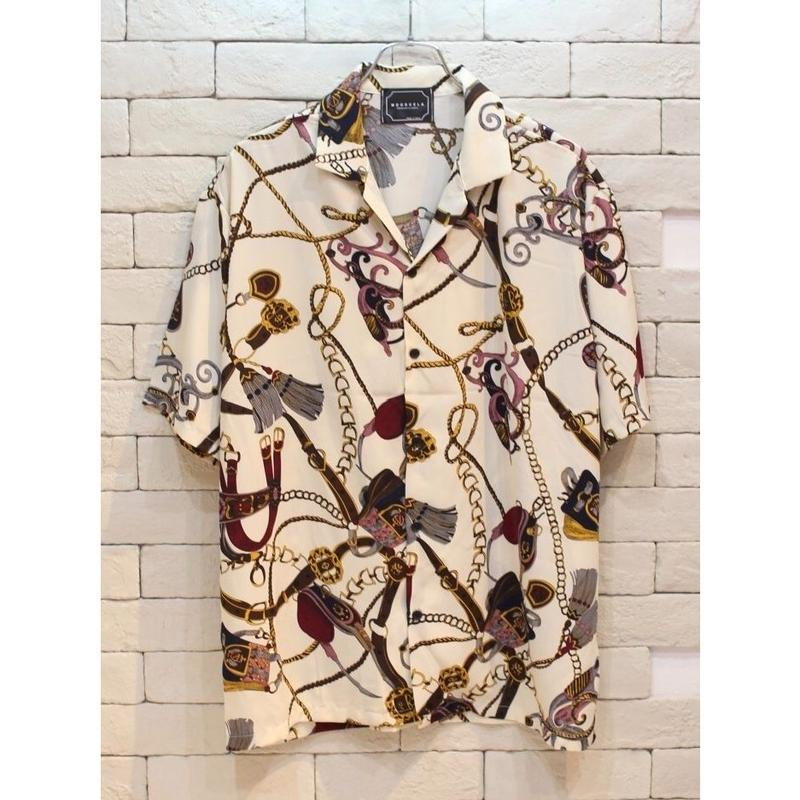 S/S RICH CHAIN SHIRTS IVORY