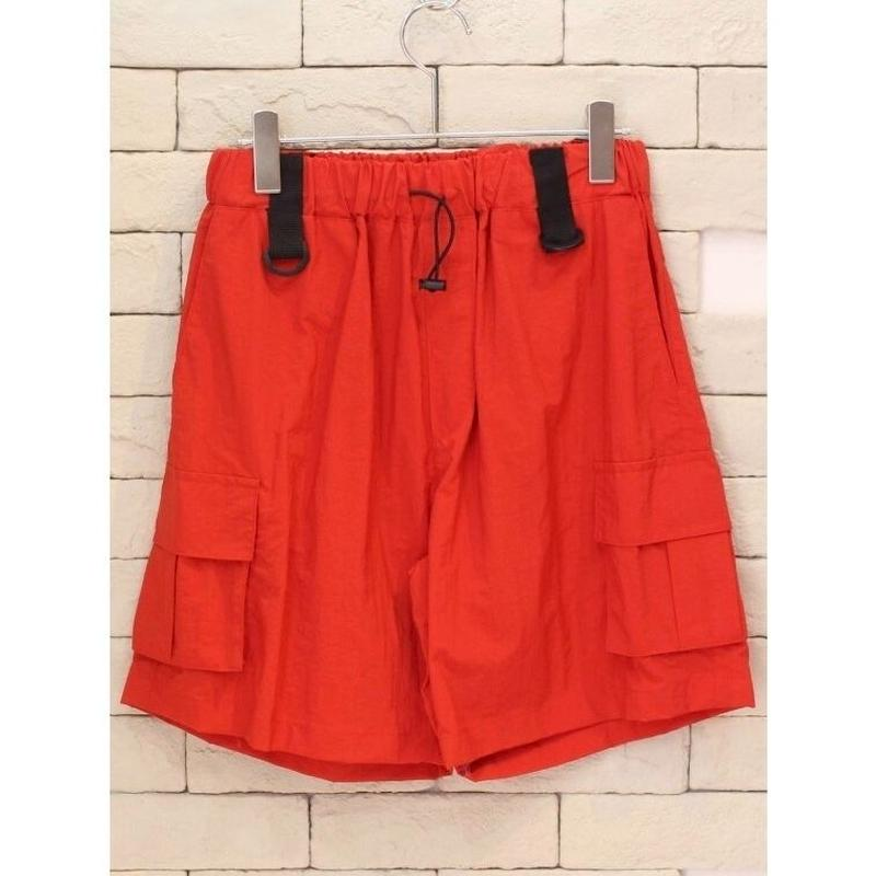NYLON CARGO SHORTS RED