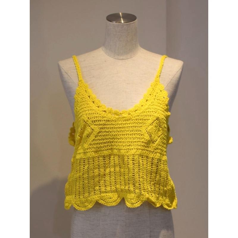 NEON COLOR KNIT BUSTIER YELLOW