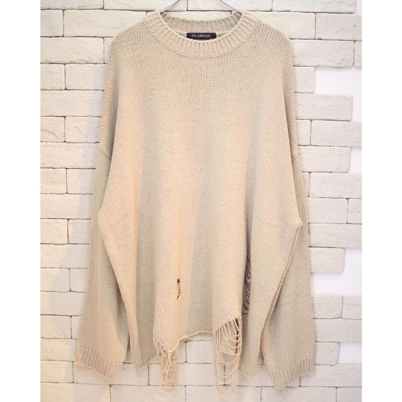 DESTROYED KNIT BEIGE