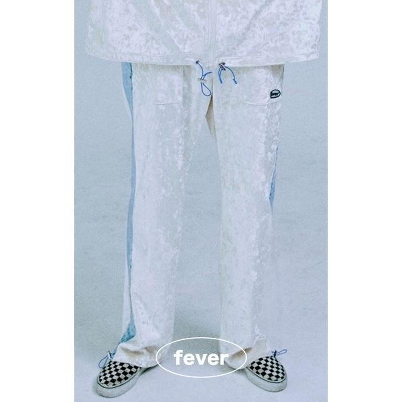 FEVERTIME VELVET PANTS WHITE