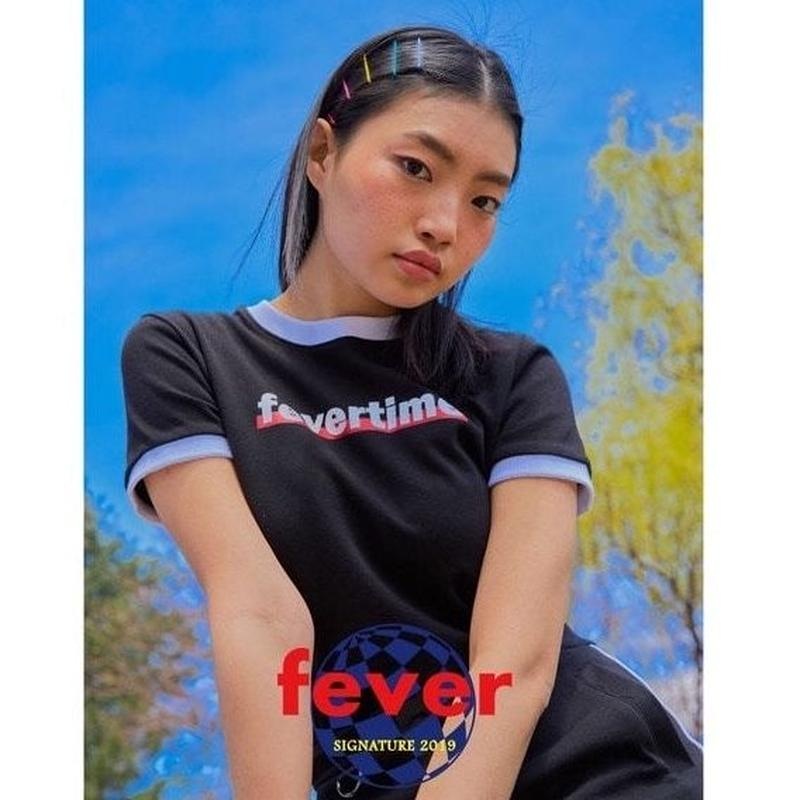 FEVERTIME RINGER TEE BLACK
