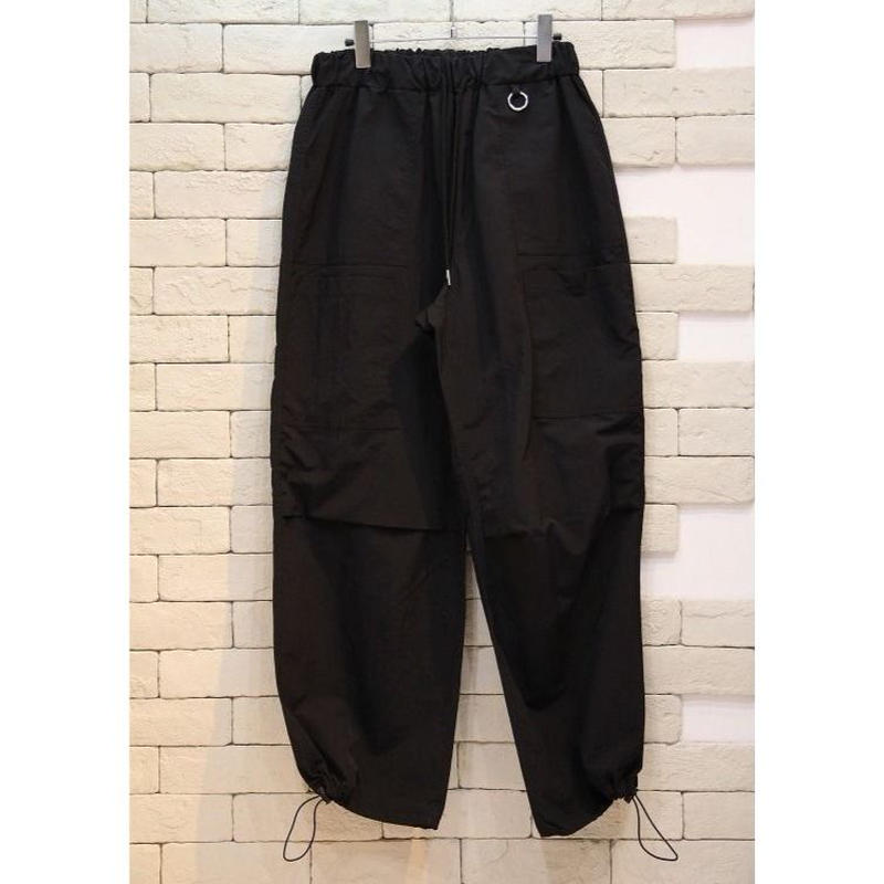 NYLON WIDE PANTS BLACK