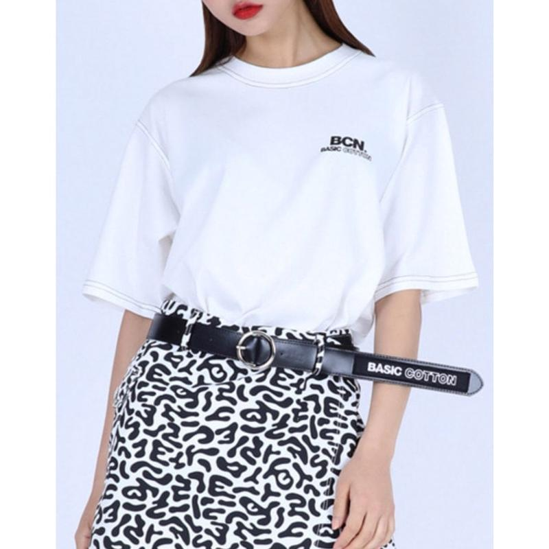 BASIC COTTON BCN STITCH TEE WHITE