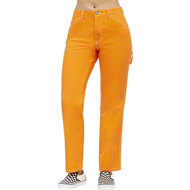 DICKIES GIRL CARPENTER PANTS ORANGE