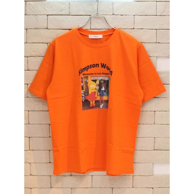 S/S WORLD TEE ORANGE