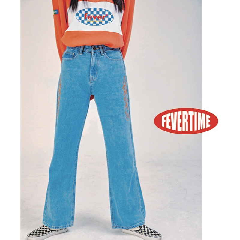 FEVERTIME FIRE DENIM PANTS