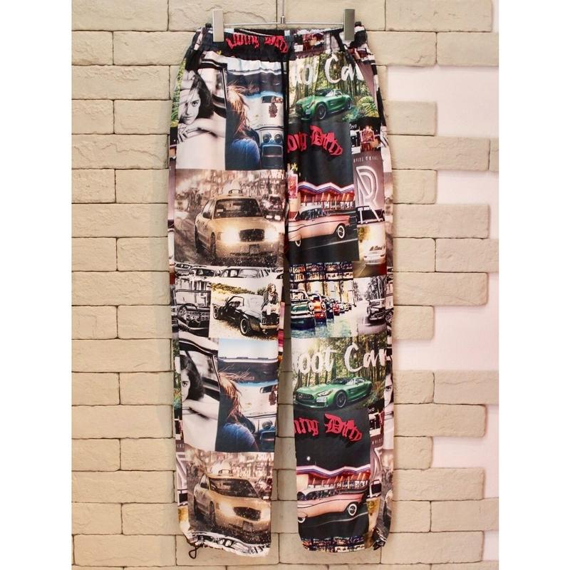 PHOTO COLLAGE NYLON PANTS