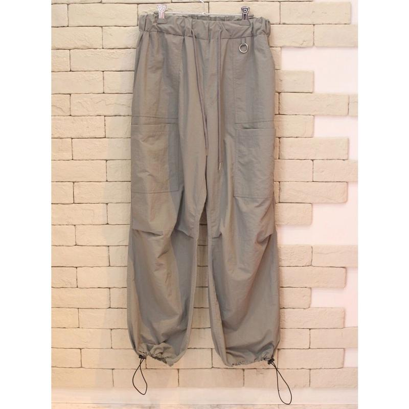 NYLON WIDE PANTS GRAY