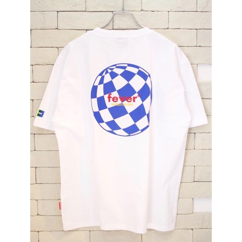 FEVERTIME GLOBE CHECKER TEE WHITE