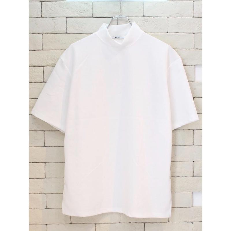 S/S MOCK NECK TEE WHITE