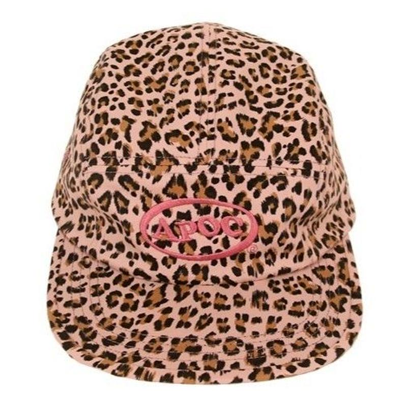 APOC LEOPARD CAMP CAP PINK