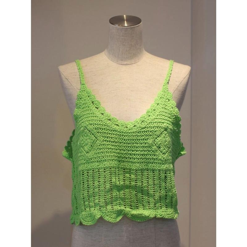 NEON COLOR KNIT BUSTIER GREEN