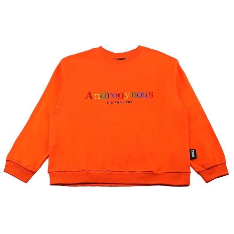BASIC COTTON Androgynous SWEAT ORANGE