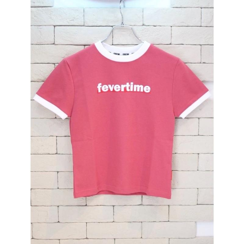 FEVERTIME RINGER TEE PINK