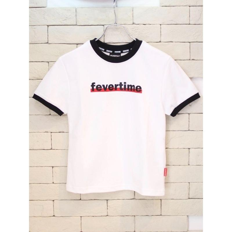 FEVERTIME RINGER TEE WHITE