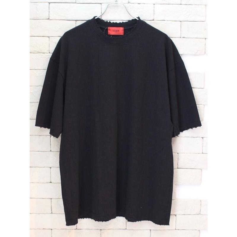 S/S OVER SIZED DESTROYED TEE BLACK