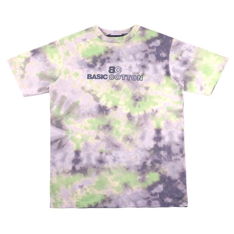 BASIC COTTON TIE DYE TEE GREEN