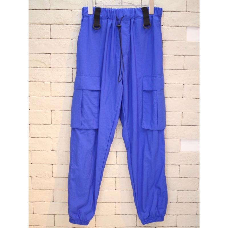 NYLON CARGO PANTS BLUE