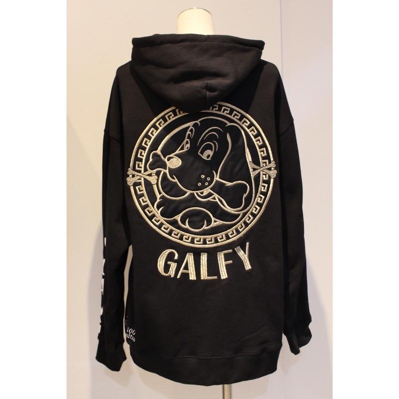 GALFY アノマークのパーカー BLACK