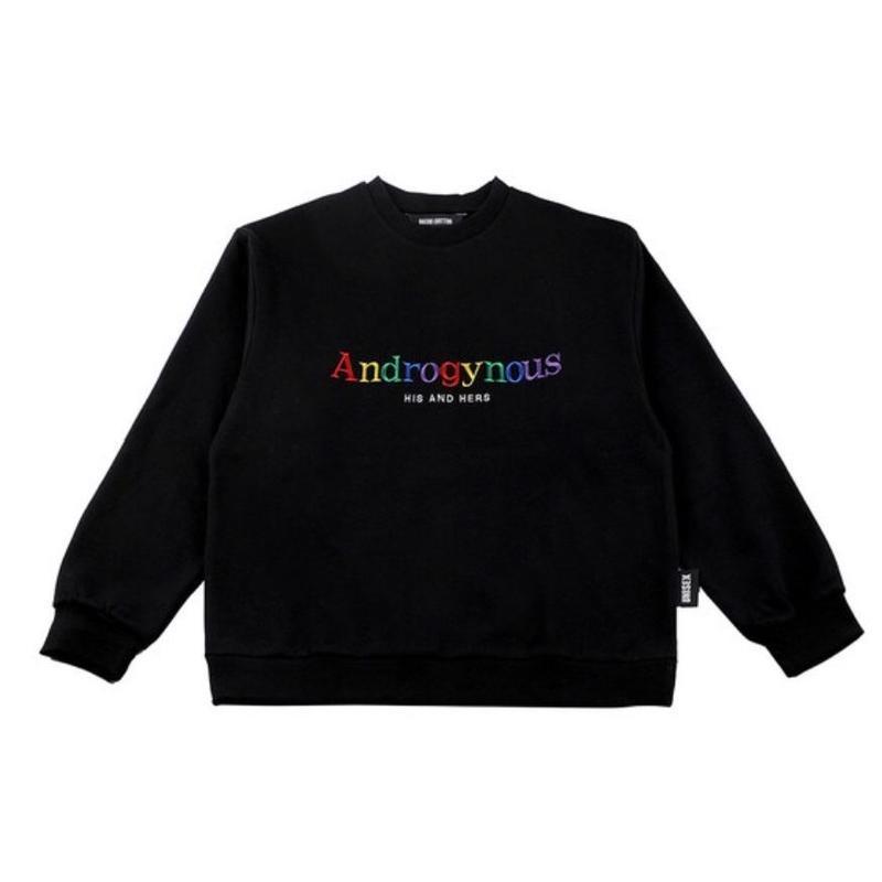 BASIC COTTON Androgynous SWEAT BLACK