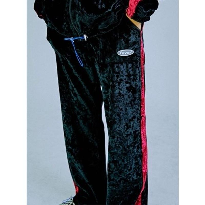FEVERTIME VELVET PANTS BLACK