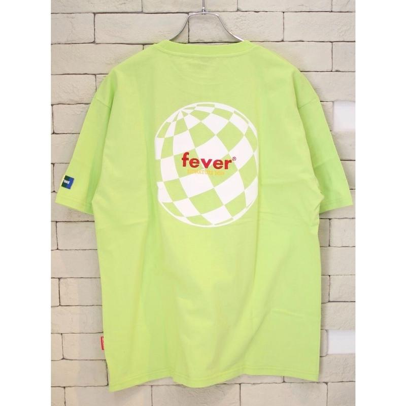FEVERTIME GLOBE CHECKER TEE LIME