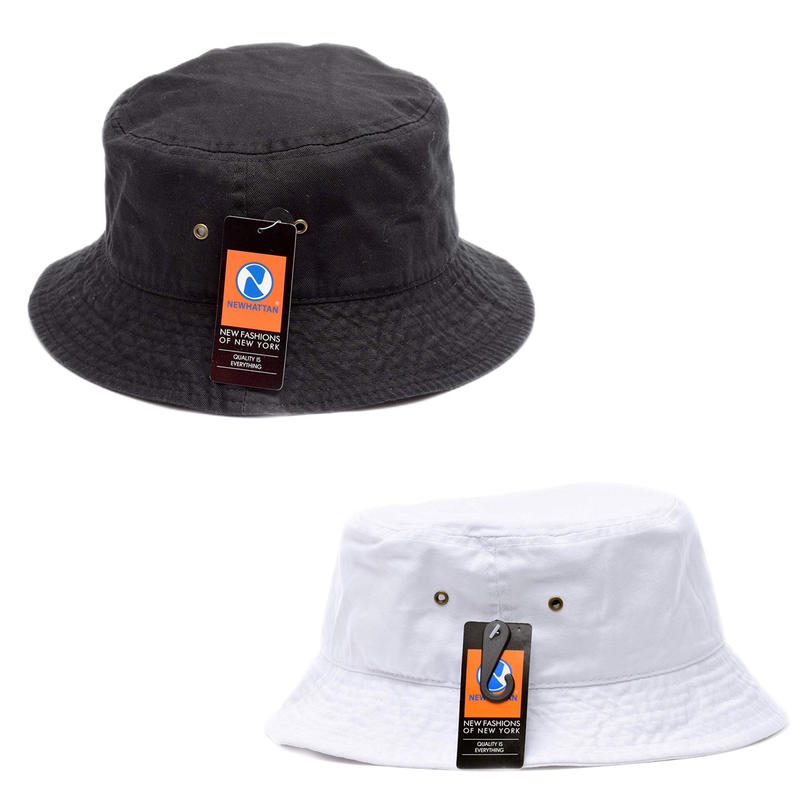 NEWHATTAN COTTON WASHED BUCKET HAT