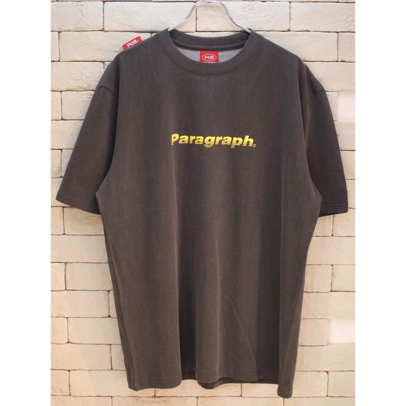 PARAGRAPH MOTION LOGO TEE CHARCOAL