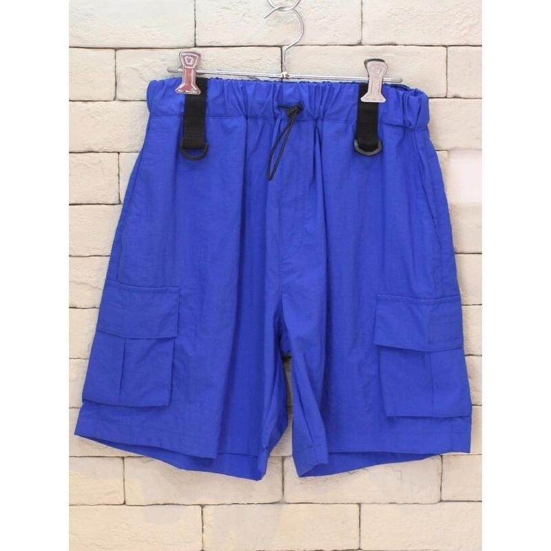 NYLON CARGO SHORTS BLUE