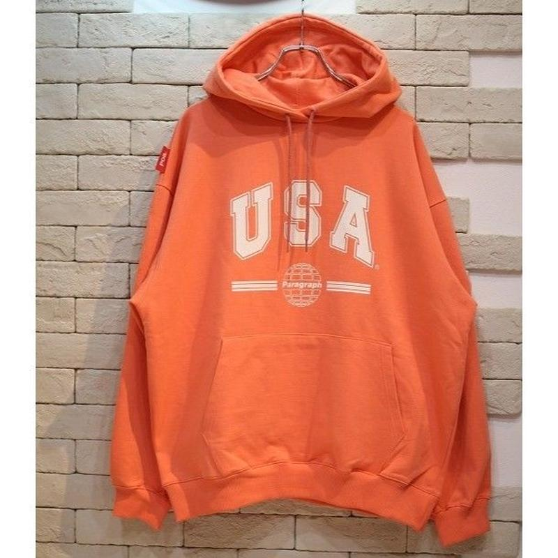PARAGRAPH USA SWEAT HOODIE ORANGE