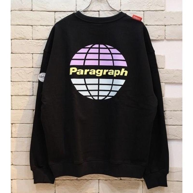 PARAGRAPH LOGO CREW NECK SWEAT BLACK