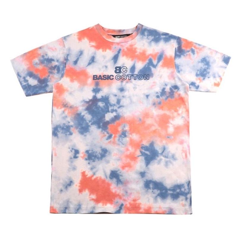 BASIC COTTON TIE DYE TEE ORANGE