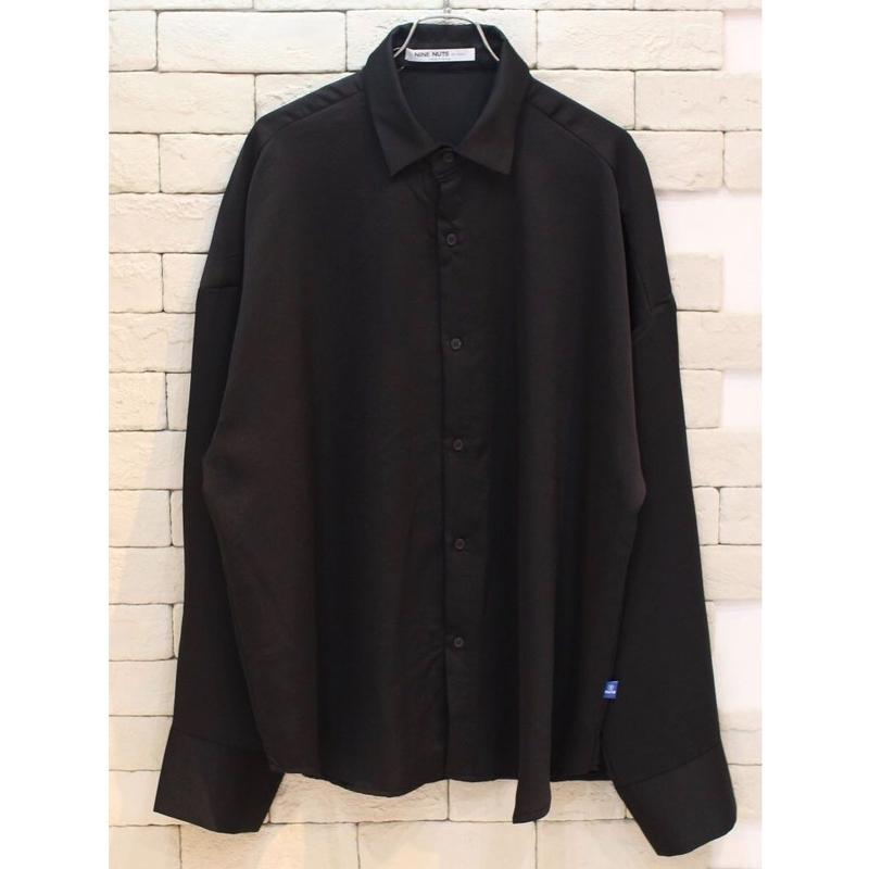 L/S SATIN SHIRTS BLACK