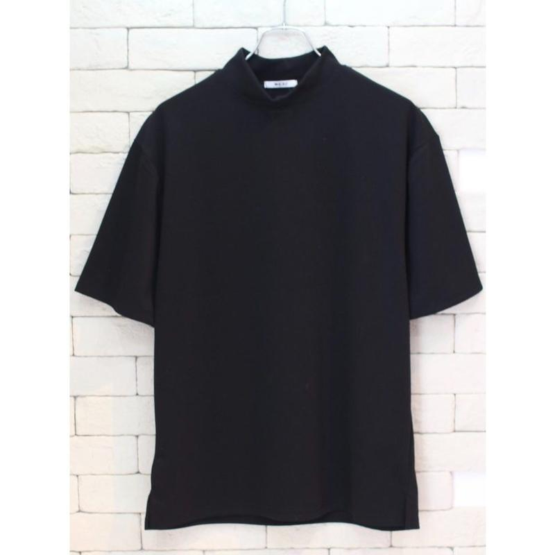 S/S MOCK NECK TEE BLACK
