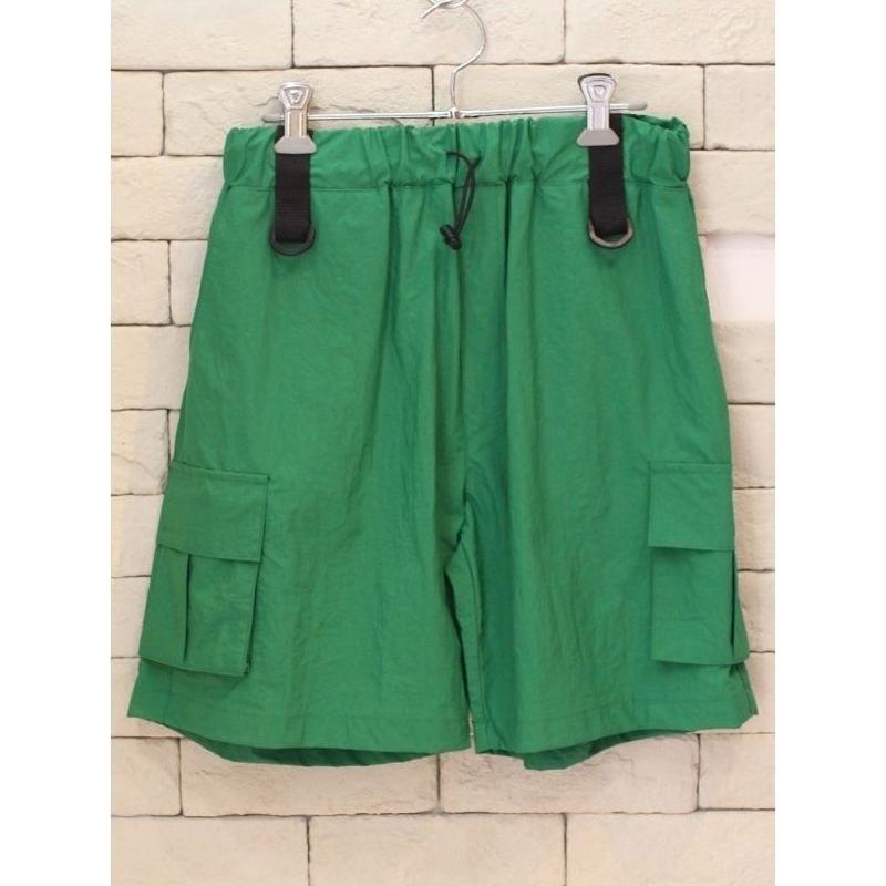 NYLON CARGO SHORTS GREEN